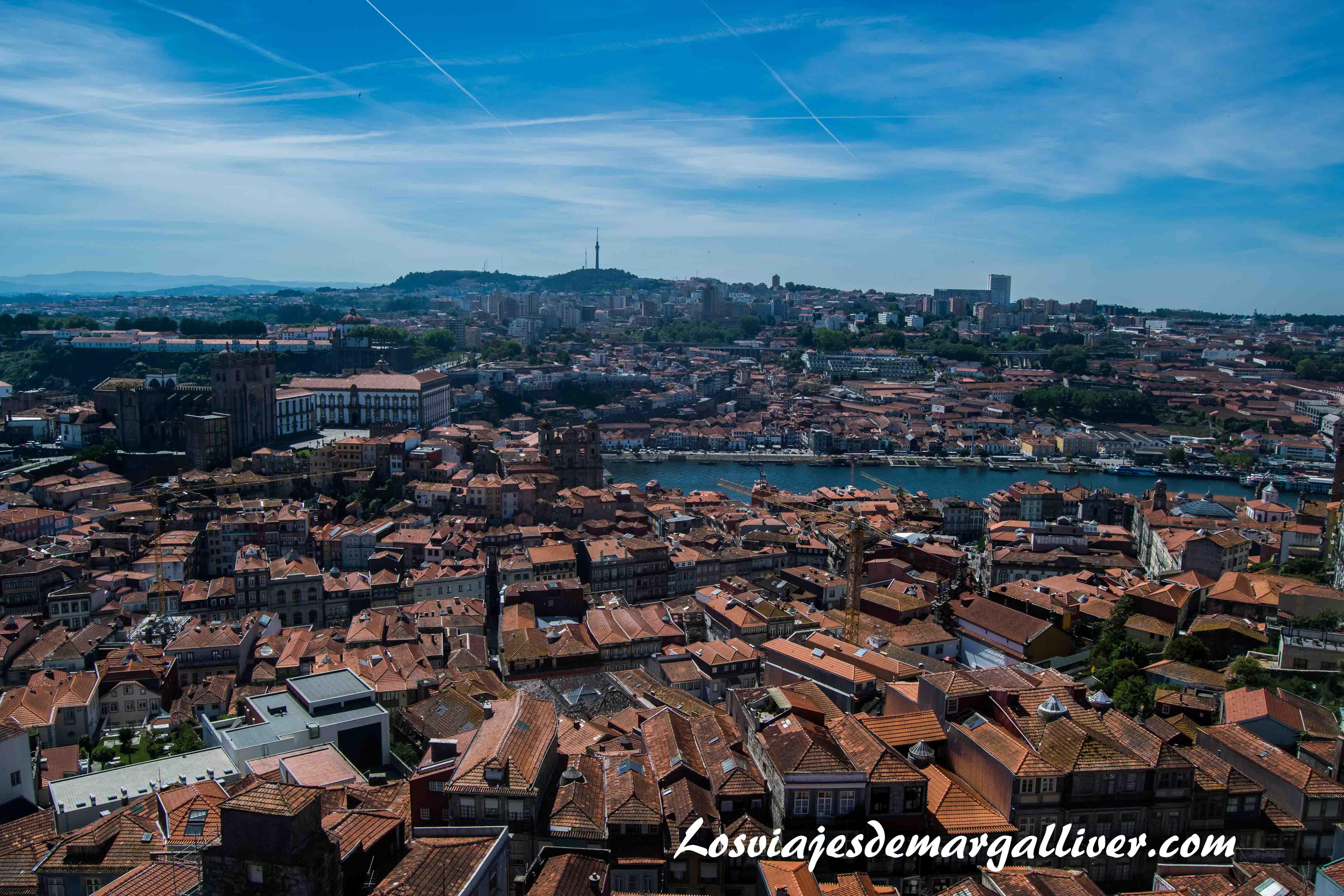 Vistas desde la Torre de los Clérigos, visitar Oporto - Los viajes de Margalliver que ver en Oporto